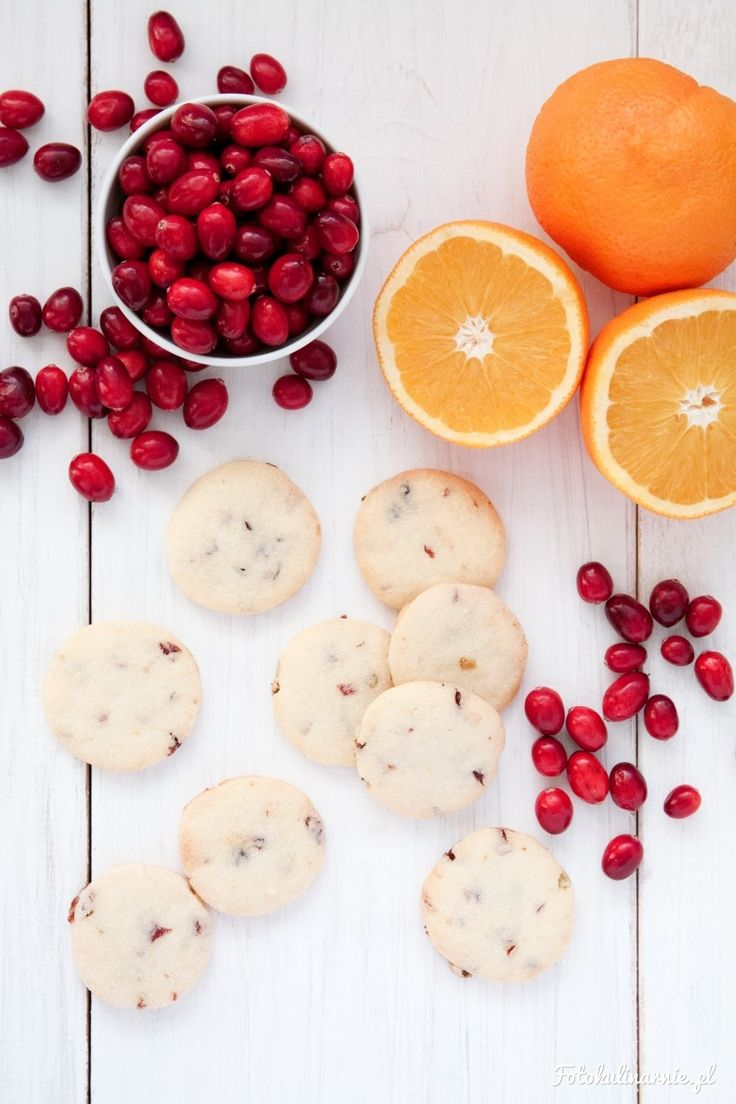 Cranberry Orange Shortbread Cookies.