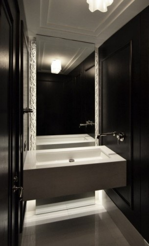Awesome Powder Room: Interior, Idea, Contemporary Bathrooms, Dspace Studio, Crown Molding, Sink, Powderroom, Room Design, Powder Rooms