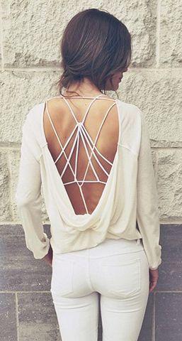 White   strappy back