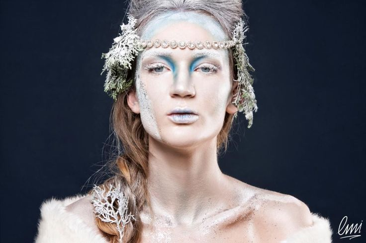 A make up from fanstasy inspirations! This creative make up looks like a winter painted canvas. Excellent work from LMI students!