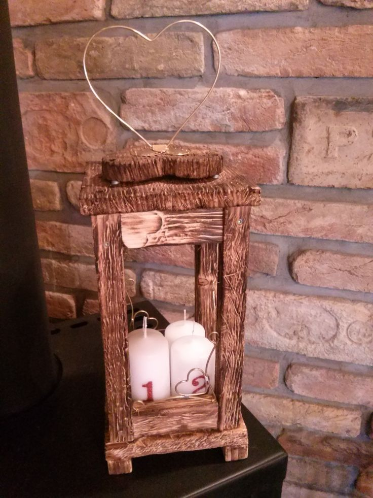 My Love made for me a beautiful, lovely wood lantern. I love it!!!