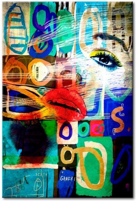 Gráfico moderno en el vidrio acrílico Kiss of Modernity [Glass]