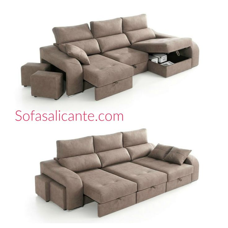 #Sofa #chaiselongue covertible en cama Mod. Lyon