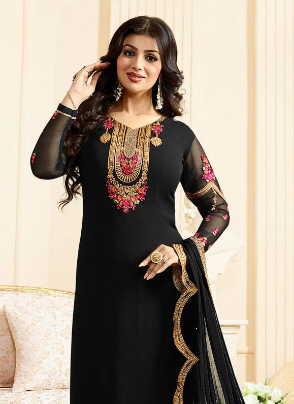 ed94cf3b14 Latest Pakistani Indian Straight Cut Salwar Kameez 2018-19 Designs ...