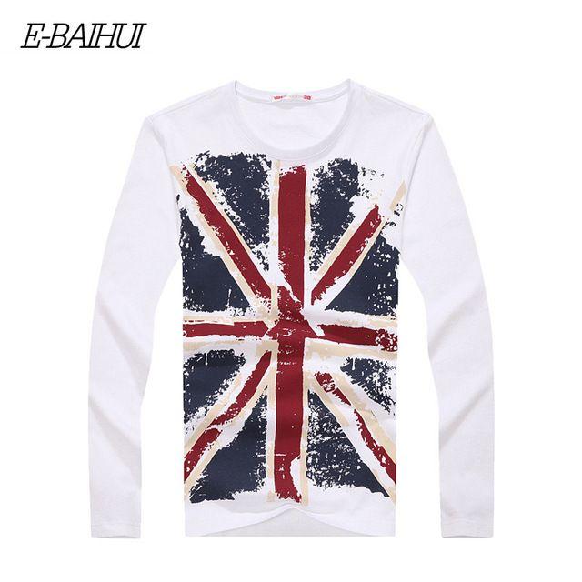 【 $10.39 & Free Shipping 】E-BAIHUI mens t shirts cotton clothing Casual tops tees Blusas Masculinas Camisetas swag   Buying & Reviews on AliExpress