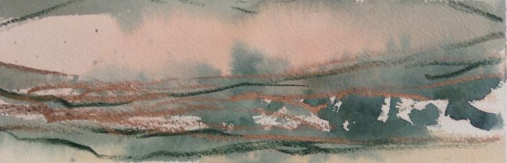 Landscape wash series 10 X 4 inches