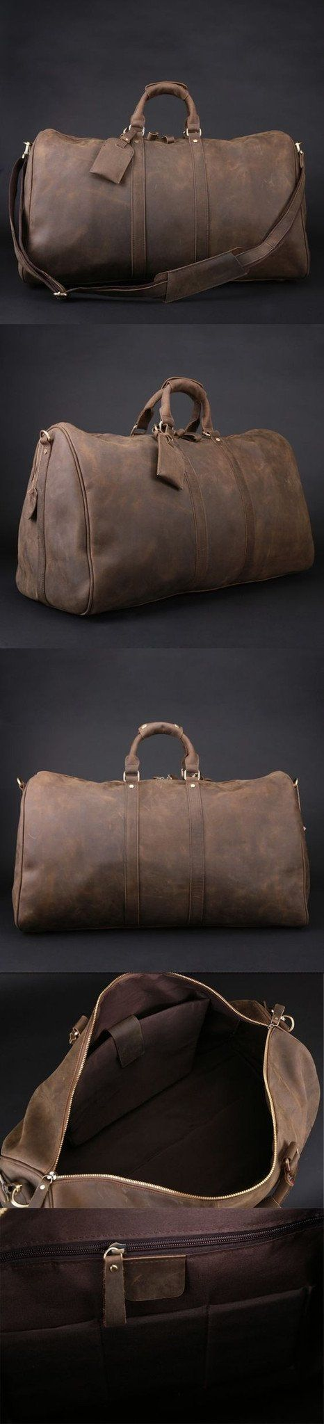 Men's Handmade Vintage Leather Duffle Bag / Travel Bag / Luggage / Gym Bag / Weekend Bag