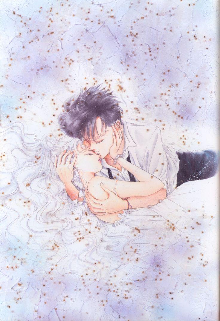 "Usagi Tsukino (Sailor Moon) & Mamoru Chiba (Tuxedo Mask) from ""Sailor Moon"" series by manga artist Naoko Takeuchi."