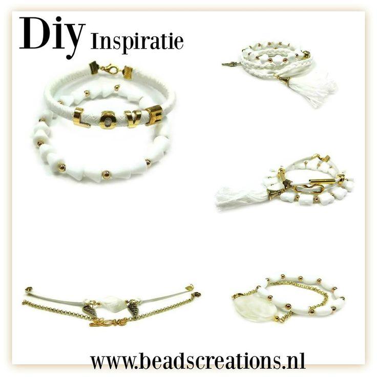 Ibiza wit/gold | Beads Creations Kralen en Sieraden Maken Alle onderdelen shop je via www.beadscreations.nl