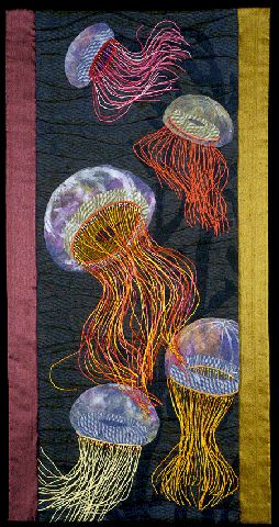 """""""Ballet de mer (Ballet of the Sea)""""  (love this quilted wall hanging & i can do it!)"""