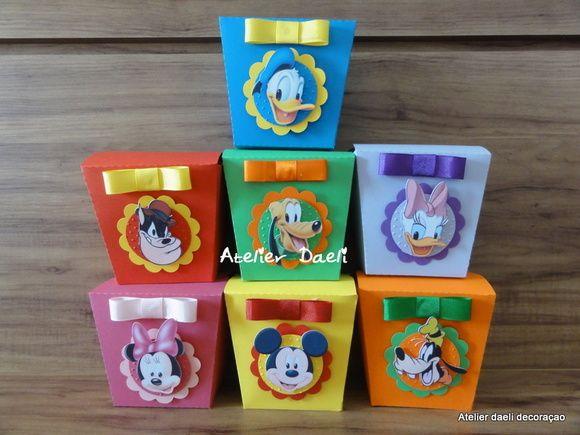 Caixinhas turma do Mickey