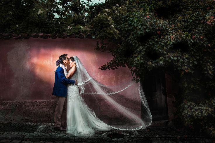 This wedding photo is taken in one little street in old town of #prague