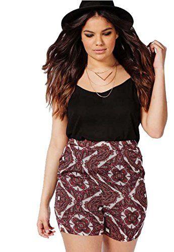 Fashion Bug Women Plus Size: Shorts: Womens Plus Size Ethnic Print Shorts #British #UK #PlusSize #Shorts #FashionBug