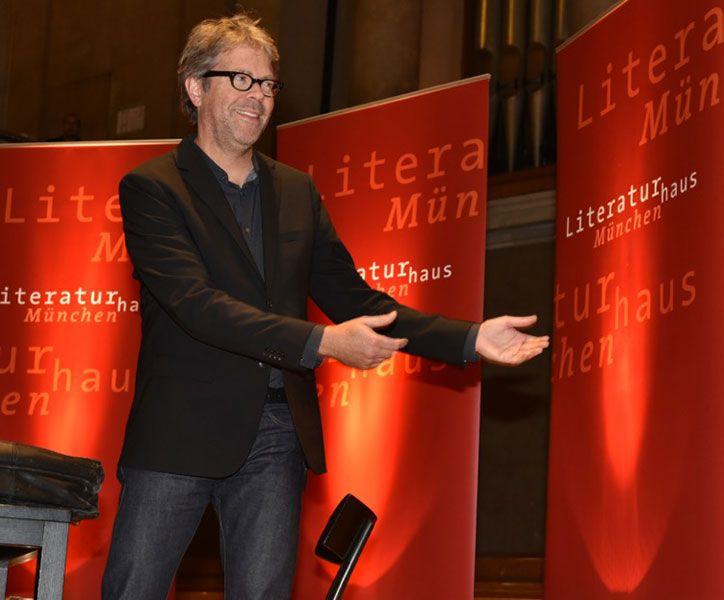 """Jonathan Franzen las im Herkulessaal aus """"Unschuld"""". (12.10.2015) Literaturhaus München außer Haus © Catherina Hess"""