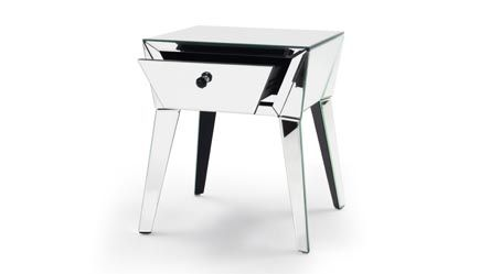 Lave Mirrored Glass End Table