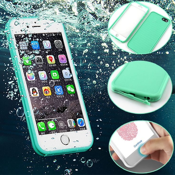 Waterproof Case For iPhone 7 5 5S SE 6 6S 6S Plus Slim Luxury Shockproof Hybrid Rubber Soft Silicon TPU Touch Case Back Cover