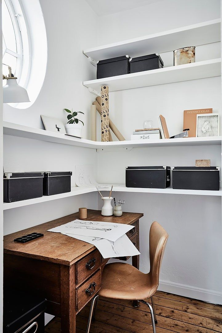 Pantry turned office - via cocolapinedesign.com