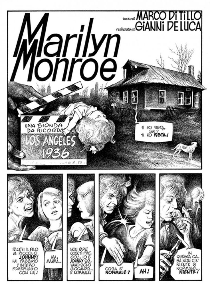 Gianni De Luca (Italy 1927) - Marilyn Monroe - 1982 - biography 1st page