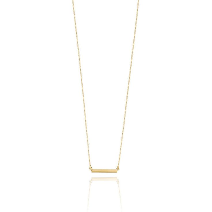 Bar Necklace - Yellow Gold Plated Sterling Silver