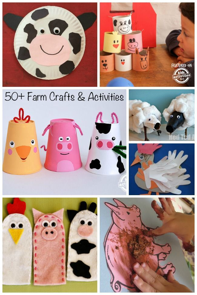 So many fun farm crafts and activities for kids to play and learn.
