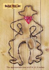 Bow Legged Cowboy  - handmade metal decor barbed wire art boot country sculpture