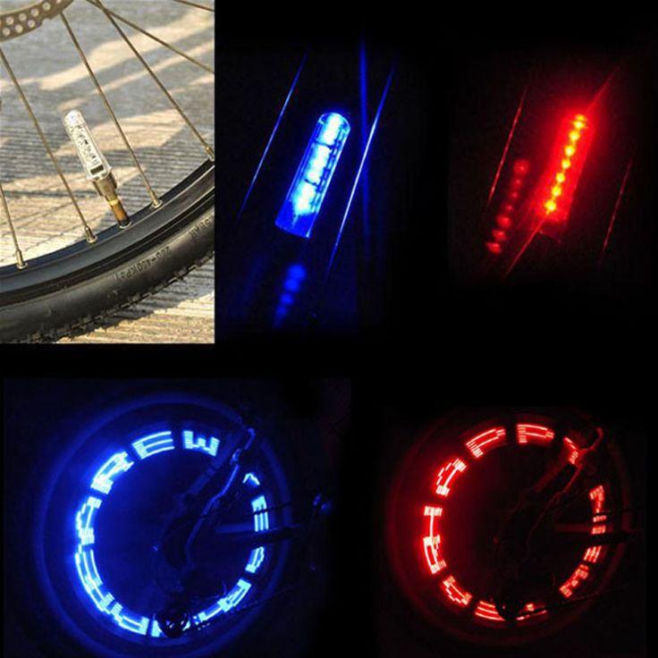 7 LED Xe Đạp Đèn Xe Đạp Leo Núi Ánh Sáng Đi Xe Đạp Tín Hiệu Lốp Spoke Wheel Đèn Xe Đạp Luces Led Không Thấm Nước Bicicleta Bisiklet