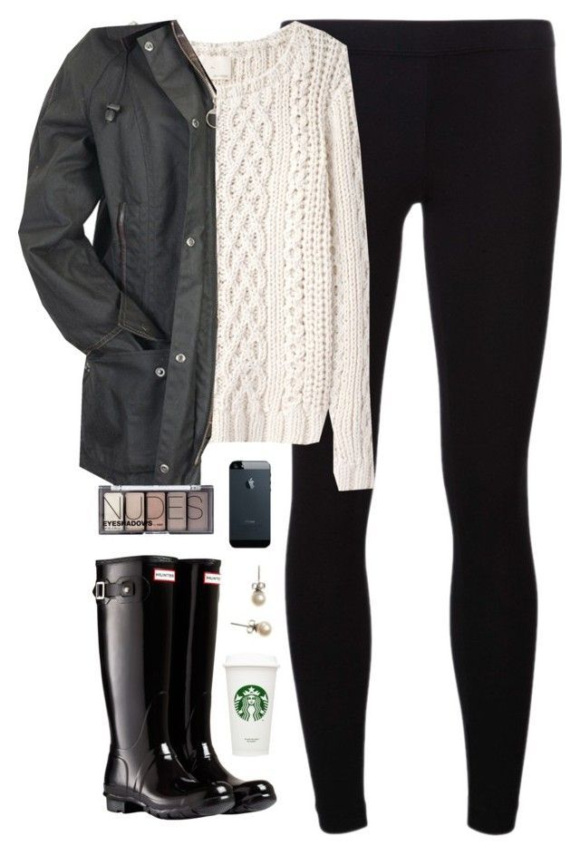 rainy day off school by classically-preppy on Polyvore featuring Band of Outsiders, James Perse, Hunter, J.Crew, H&M and Barbour