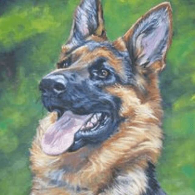 German Shepherd Dog Diy Diamond Painting German Shepherd Painting Dog Art German Shepherd Dogs