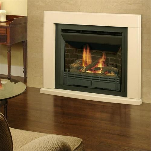 Stone Gas Fireplace 535 Propane Natural Gas Models With 613ccb 617stk Stone Trim Kit