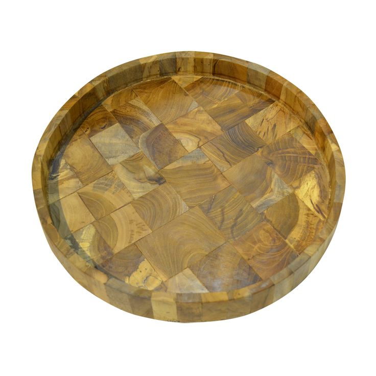 Round Wooden Tray - Mosaic. A perfect way to add some charm to your home