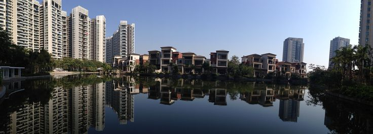 What has now become my home in Zhuhai, China. A gated community with beautiful walks, water views and serenity.