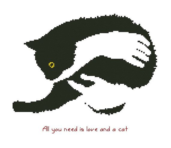 Katten/dieren geteld Cross Stitch patroon door crossstitchgarden