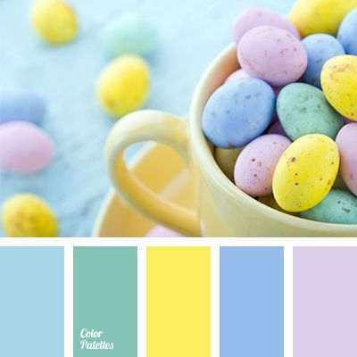 Soft, pastel shades combined with bright colours of this palette will look amazing in festive table decor. This palette will refresh the whole room and cre.