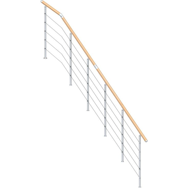 Best 25 stair railing kits ideas on pinterest stair bannister dolle rome 35 ft gray painted beechwood steel stair railing kit solutioingenieria Gallery