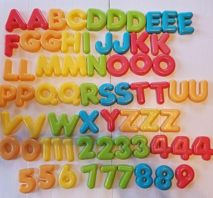 Parents Magazine Replacement Alphabet Letters Numbers Random Magnetic School  #Parents
