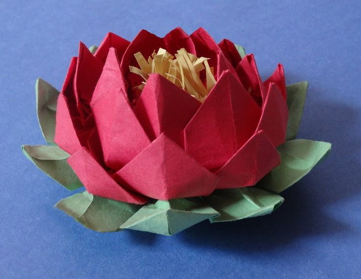 ***How to make 20 petal lotus with stamen( variation of origami lotus)
