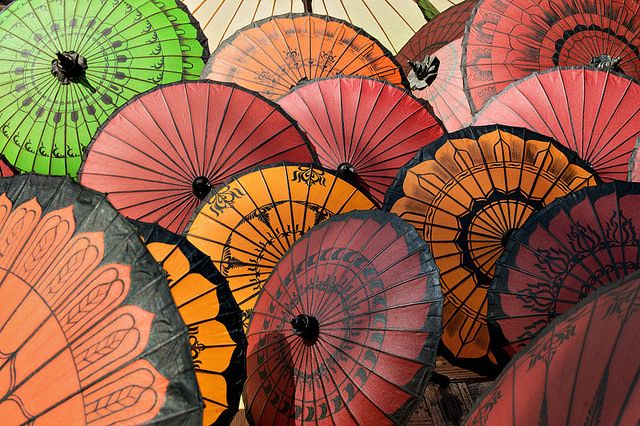 Umbrellas from Pathein - Myanmar by PascalBoegli.cOm, via Flickr