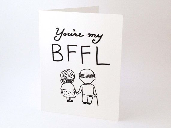 Cute Love Card // Best Friend Card // Funny by EuclidStreetShop, $4.00