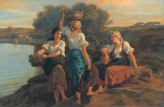 Hungarian painter - Lotz Karoly (1833-1904) Vizhordok