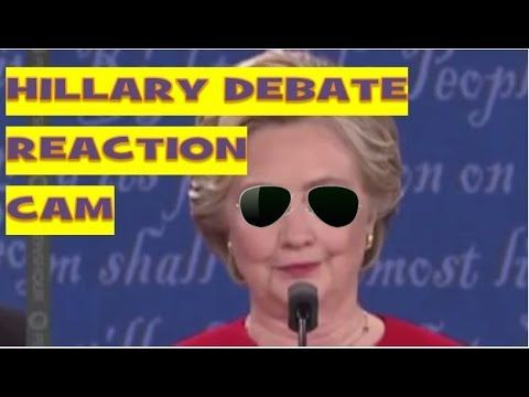 Hillary Clinton Reaction Cam - Presidential Debate 2016