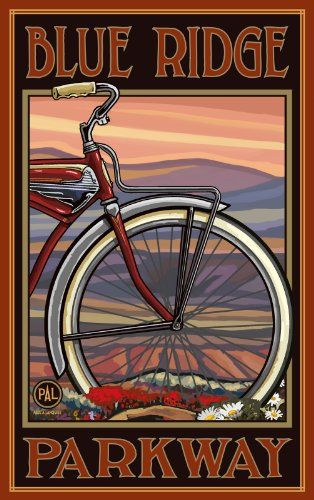 Northwest Art Mall Blue Ridge Parkway Old Half Bike North Carolina Wall Art by Paul A Lanquist, 11 by 17-Inch Northwest Art Mall,http://www.amazon.com/dp/B00CST3RG0/ref=cm_sw_r_pi_dp_1dB6sb1M8QXR5GZ9