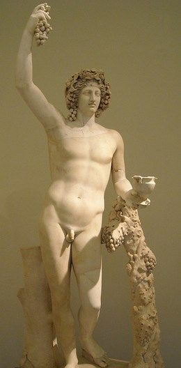 statue of Dionysus - about 2nd century AD, reworking of Greek original of the 4th century BC,at the Archaeological Museum, Naples
