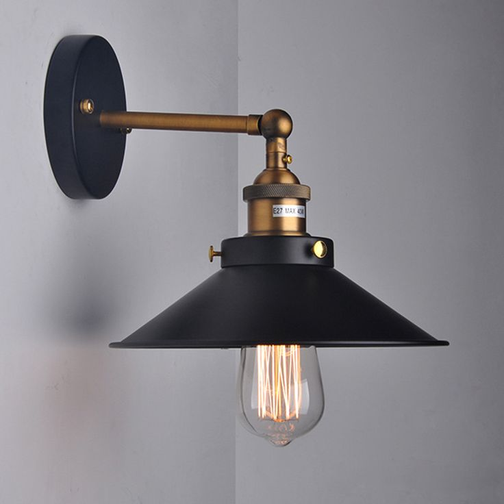 125 best retro loft wall lamps images on pinterest sconces wall find more wall lamps information about american retro loft vintage industrial iron wall lamp black umbrella aloadofball Image collections