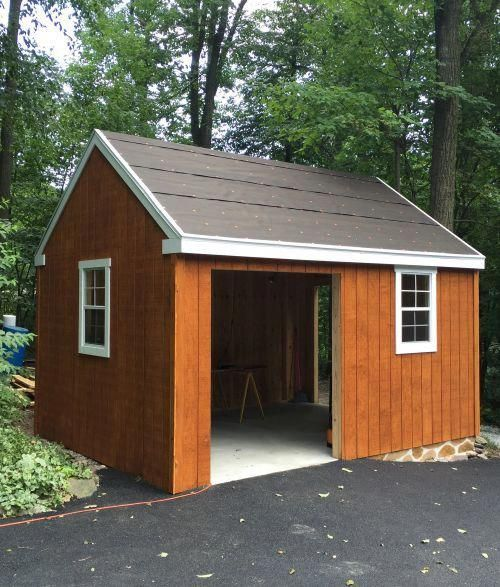 One of my plan buyers modified my 12x16 garden shed plans to build