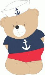 11590 Ursinho marinheiro 60 cm