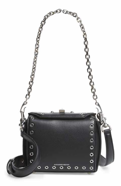 Alexander McQueen Mini Box Grommet Leather Bag Vintage Luggage, Wallets For  Women, Leather Bag e9371bea5b