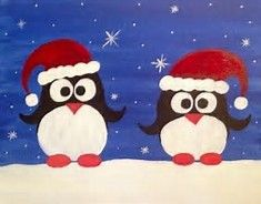 Image result for Cute Christmas Canvas Paintings
