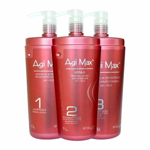 Agi Max - Red Kit Escova Inteligente Kera-x 3x1000ml - R$ 239,00 em Mercado Livre