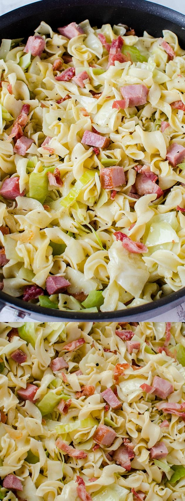 This Cabbage and Noodles with Ham recipe from Incredible Recipes from Heaven is a simple and yummy dish. It's a traditional Polish dish with tender egg noodles, cabbage, and cubed ham or bacon!