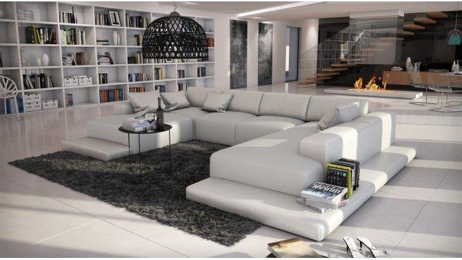 Canapé d'angle panoramique en cuir - Kherson
